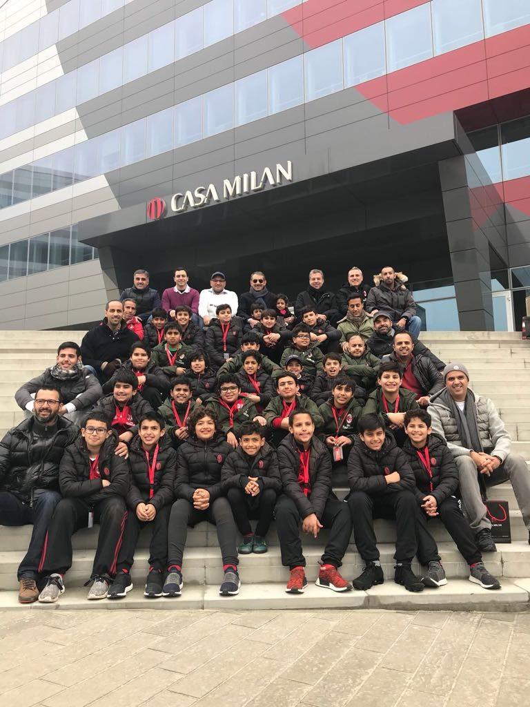 Il Console Generale visita la delegazione della LOYAC AC Milan Academy del Kuwait