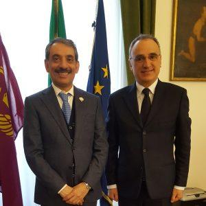 Mr Consul General meets the Questore of Milan