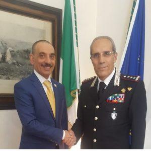 The Consul General meets the Interregional Commandant of Carabinieri