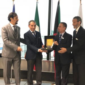 First direct flight between the State of Kuwait and Milan