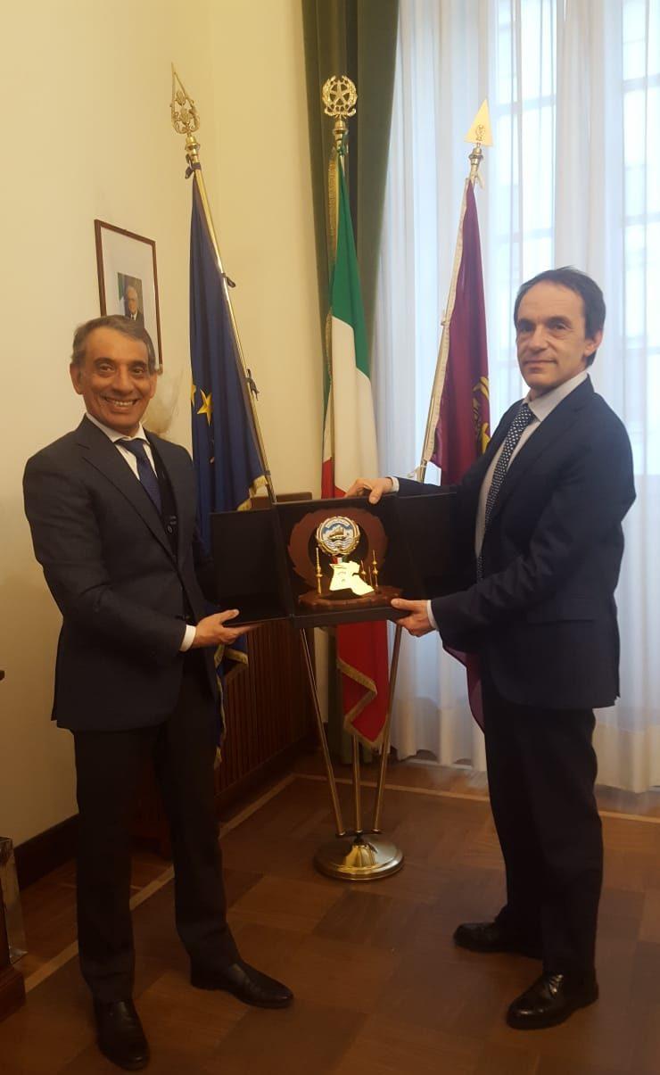 Il Console Generale del Kuwait incontra il Questore di Milano Sergio Bracco